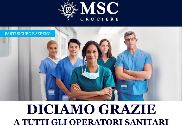 MSC: Operatori sanitari sino al 50% di sconto