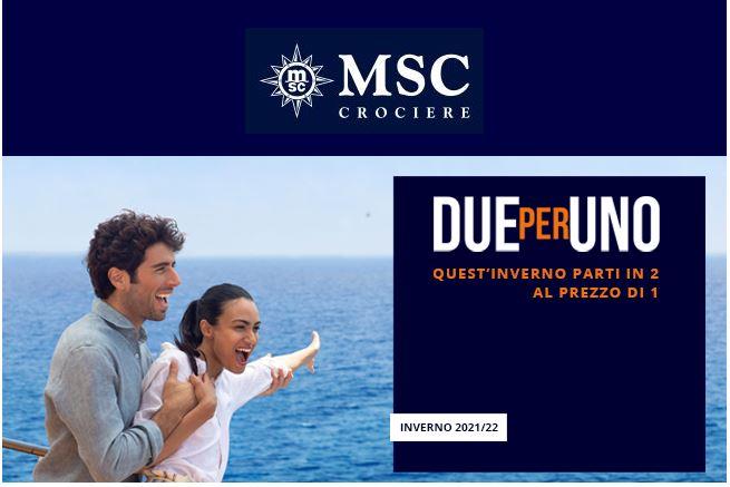 MSC Crociere Promo 2×1
