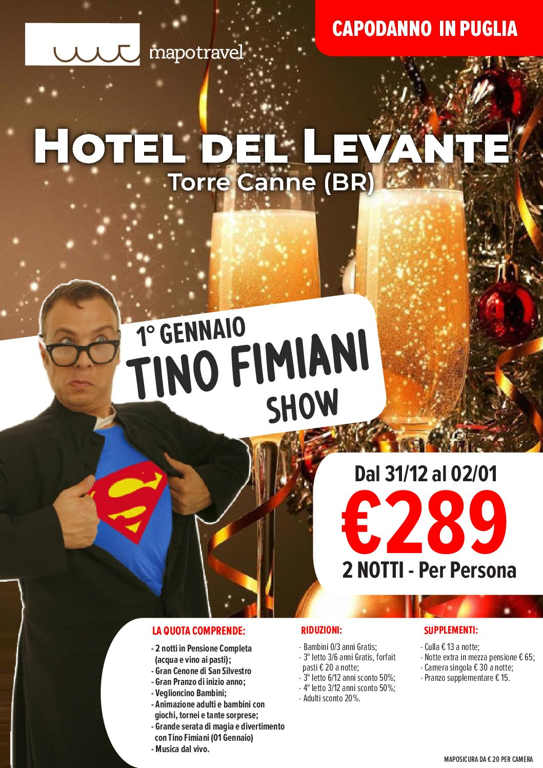CAPODANNO IN PUGLIA – Hotel Del Levante ****